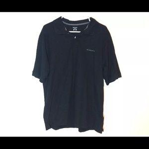 Columbia Men's Black Polo Shirt Size Large